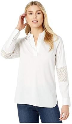 NYDJ Popover Tunic (Optic White) Women's Clothing