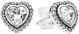 Pandora Earrings - Sterling Silver & Cubic Zirconia Sparkling Love Studs