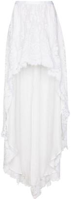 LoveShackFancy Halsey asymmetric lace skirt