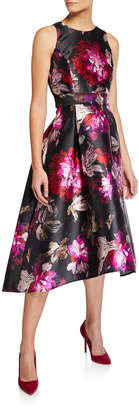 Tahari ASL High Low Party Dress With Belt