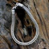 Hand Made Men's Sterling Silver Chain Bracelet, 'Fire Dance'