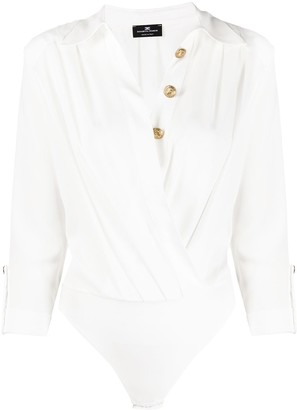 Elisabetta Franchi Wrap Style Shirt Body