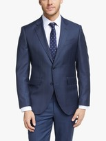 Hackett London Windowpane Check Slim Fit Suit Jacket, Navy