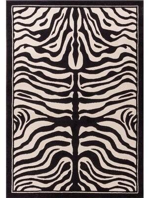 Marlow Bloomsbury Market Wool Black/White Area Rug Bloomsbury Market Rug Size: Rectangle 2' x 3'