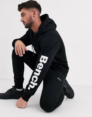 Bench co-ord hoodie in relaxed fit with side logo in black