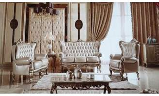 Off-White Joseph Louis Home Furnishings 3 Piece Living Room Set Joseph Louis Home Furnishings Upholstery: Off-White, Color: Antique Silver
