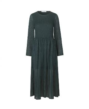 Samsoe & Samsoe Larimar Long Dress - Darkest Spruce - Size M (UK 12)