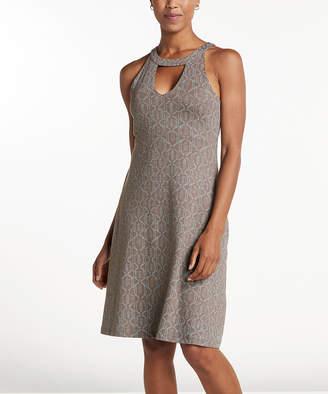 Toad&Co Women's Casual Dresses Falcon - Falcon Brown Batik Dot Avalon Dress - Women