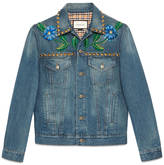 Gucci Painted denim jacket with embroidery