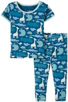 Kickee Pants Printed Pajama Set (Baby) - Peacock Multi Animal - 0-3 Months