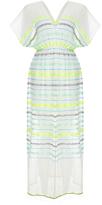 Lemlem Lelaga Aqua Stripes Patio Maxi Dress