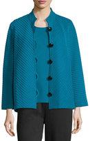 Caroline Rose Wool Ottoman Knit Jacket