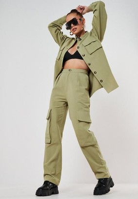 Missguided Sage Extreme Pocket Straight Leg Trousers