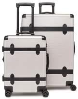 CalPak 2-Piece 30-Inch Trunk & 22-Inch Trunk Rolling Luggage Set - Grey