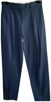 Fabiana Filippi Blue Cotton Trousers for Women