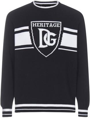 Dolce & Gabbana Logo Intarsia Sweater