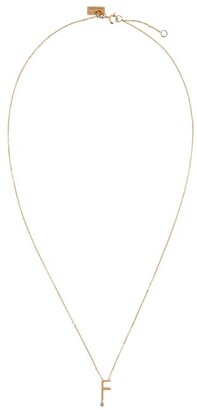 VANRYCKE Rose Gold Abecedaire Letter F Necklace