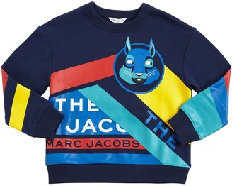 Little Marc Jacobs Mascot Print Cotton Sweatshirt