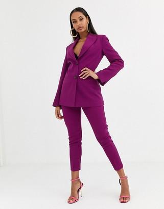 ASOS DESIGN pop slim suit trousers in purple