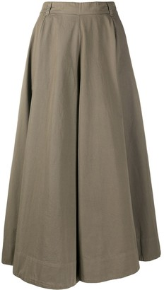 Aspesi High-Waist Full Skirt