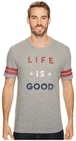 Life is Good Americana Vintage Sport Tee Men's Short Sleeve Pullover
