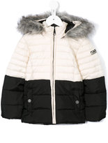 Karl Lagerfeld faux fur padded jacket