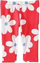 Joe Fresh Toddler Girls' Print Active Crop Pant, Red (Size 5)