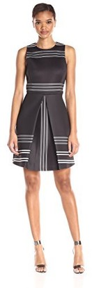 Erin Fetherston Erin Women's Striped Neoprene Claremont Dress
