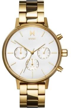 MVMT Women's Nova Solis Gold-Tone Stainless Steel Bracelet Watch 38mm