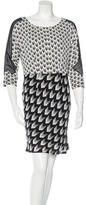 Rag & Bone Chevron Print Silk Dress