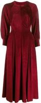 Talbot Runhof Wide Sleeved Midi Dress