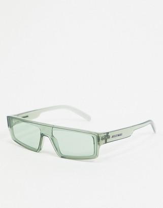 Arnette x Post Malone green square sunglasses