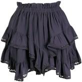 Isabel Marant ruffle layered short shorts