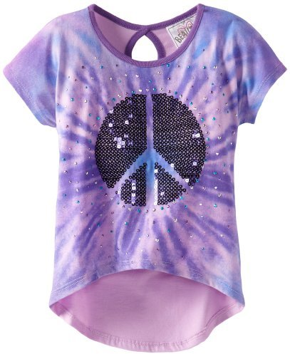 Beautees Girls 2-6X Tye Dye With Heart