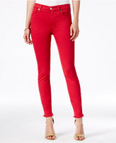 7 For All Mankind Raw-Hem Ankle Jeans
