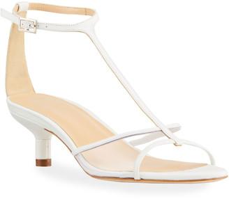 BY FAR Baby 45mm Kitten-Heel Sandals