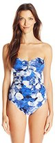 Calvin Klein Women's Poppy Bandeau Maillot Swimsuit with Removable Cups