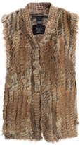 Marc by Marc Jacobs Fur-trimmed knitted waistcoat