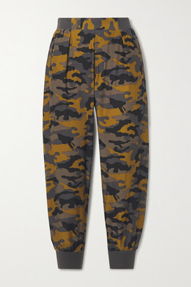 ATM Anthony Thomas Melillo Camouflage-print Silk Track Pants - Bronze