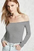 Forever 21 FOREVER 21+ Contemporary Stripe Bodysuit