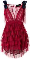 Christian Pellizzari tiered tulle mini dress