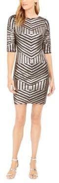 R & M Richards Geo-Sequin Sheath Dress