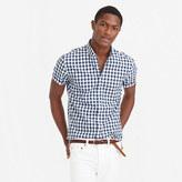 J.Crew Secret Wash short-sleeve shirt in vintage navy gingham