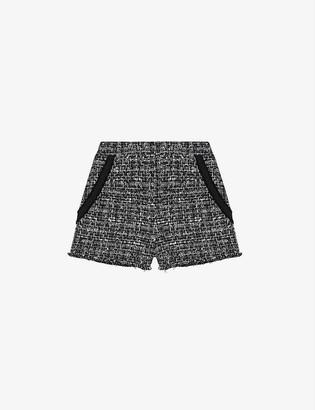 Maje Iaco high-waisted tweed shorts