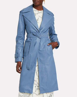 Victoria Victoria Beckham Victoria, Victoria Beckham Leather Belted Trench Coat