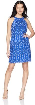 Jessica Howard JessicaHoward Women's Choker Neck Shift Dress