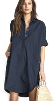 Faithfull The Brand Testoni Shirt Dress in Plain Denim Navy