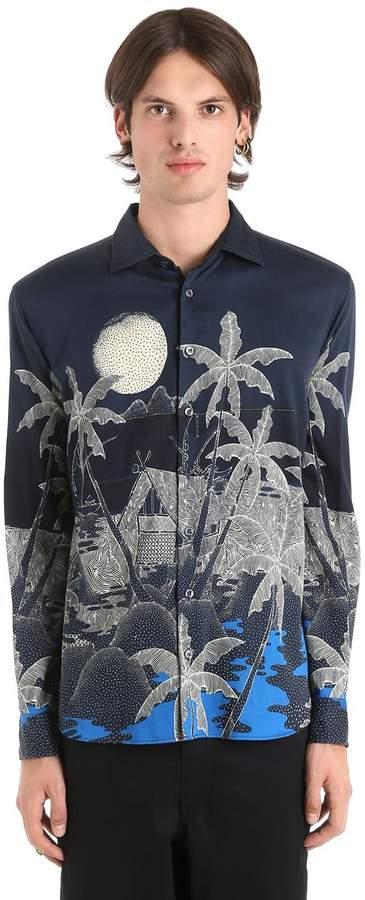 Etro Hawaiian Fluid Cotton Shirting Shirt