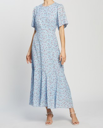 Atmos & Here Atmos&Here - Women's Blue Midi Dresses - Bella Midi Dress - Size 6 at The Iconic