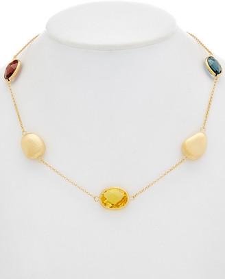 Rivka Friedman 18K Plated Crystal Bead Necklace